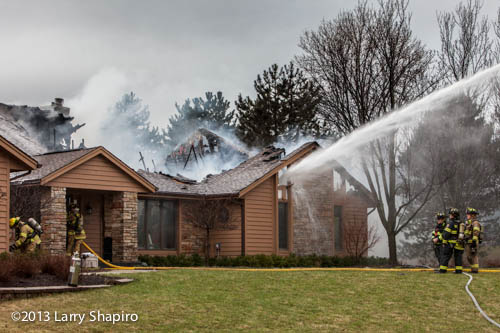 house burns after lightning strike