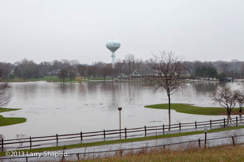 flooded lake in Palatine IL