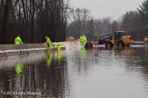 building a levee in Mount Prospect