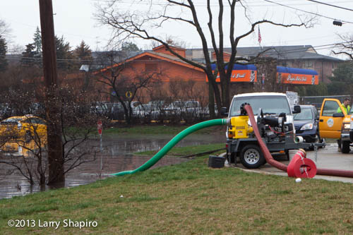 industrial pump for flooded parking lot