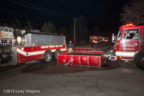 Two portable tanks are tied together to supply the lines. Larry Shapiro photo