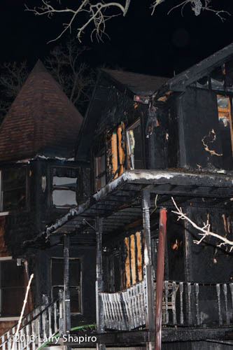 house badly burned from fire