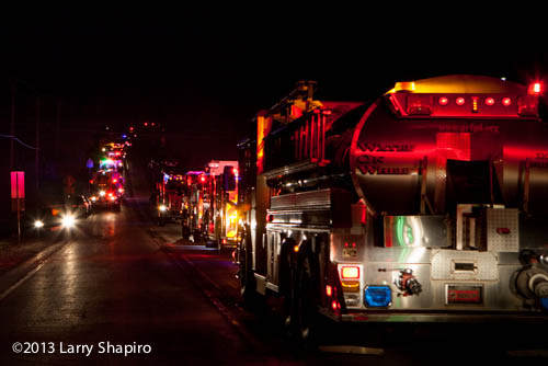 fire engines at nighttime fire