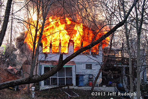 Fox Lake house on fire