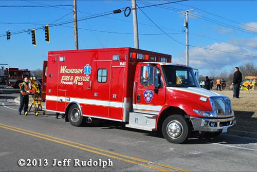 Waukegan FD ambulance