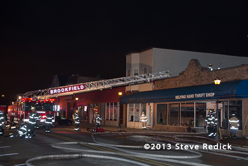Thrift store fire in Brookfield