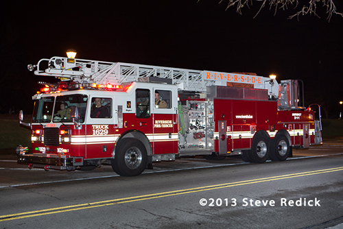Riverside Fire Department ladder truck