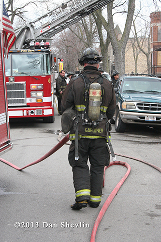 firefighter with air pack