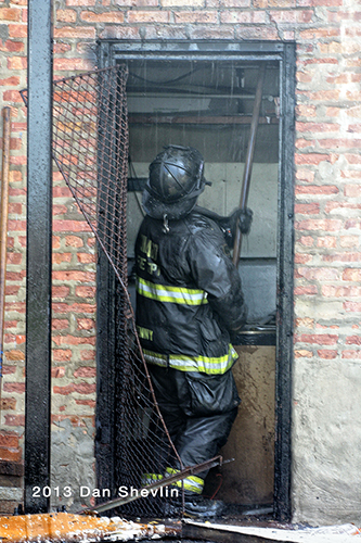 firefighter working after fire