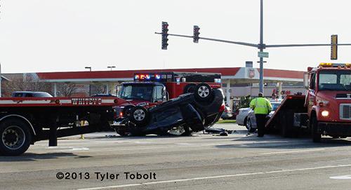 rollover crash in Algonquin