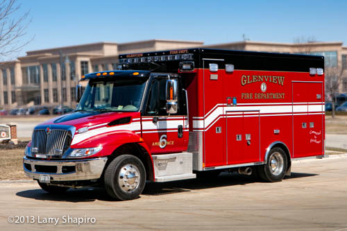 Glenview FIre Department ambulance 6