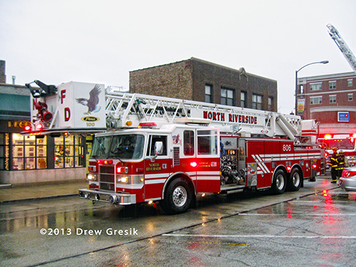 North Riverside FD tower ladder