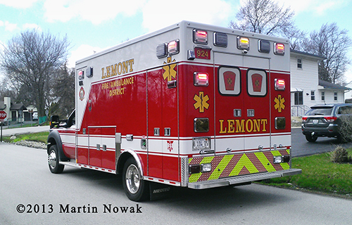 Lemont Fire District ambulance