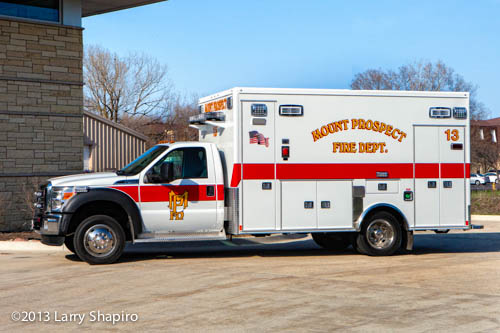 new ambulance for Mount Prospect FD