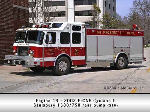 Mount Prospect FD fire engine