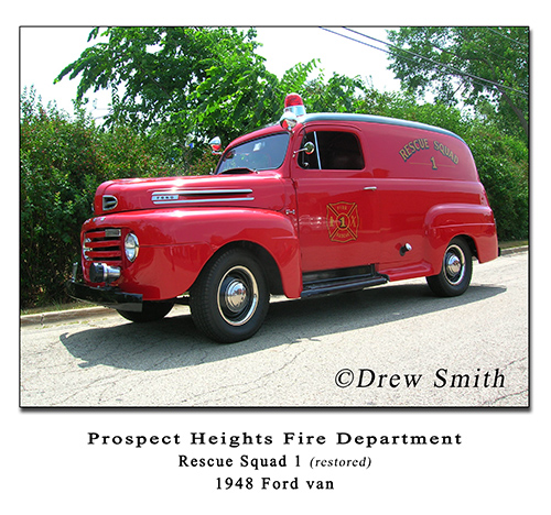 Prospect Heights FD 1948 Ford van