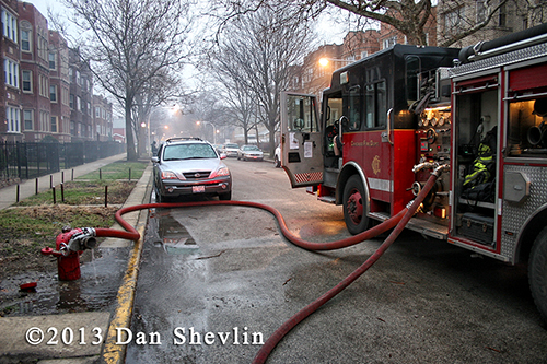 fire engine at hydrant