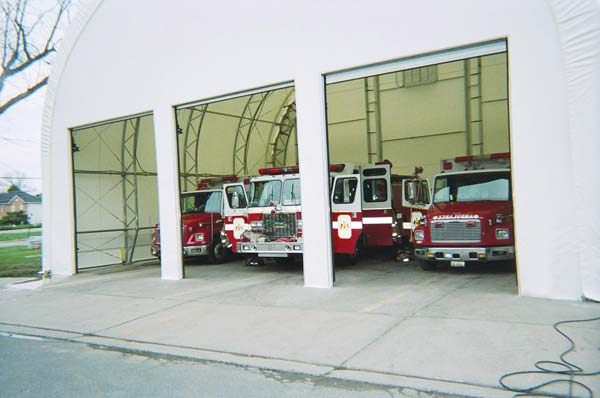 temporary fire station during construction