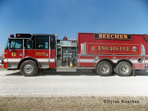 Beecher FPD Pierce pumper/tanker tender