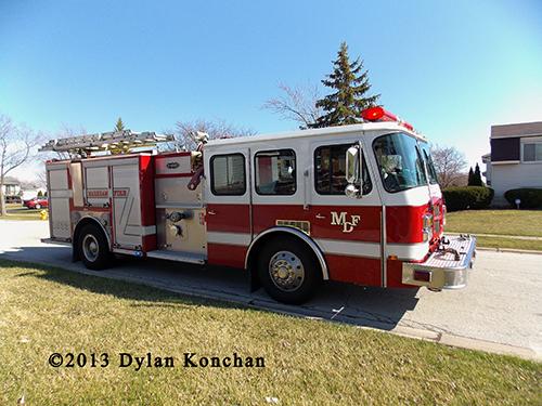 Markham Fire Department fire engine