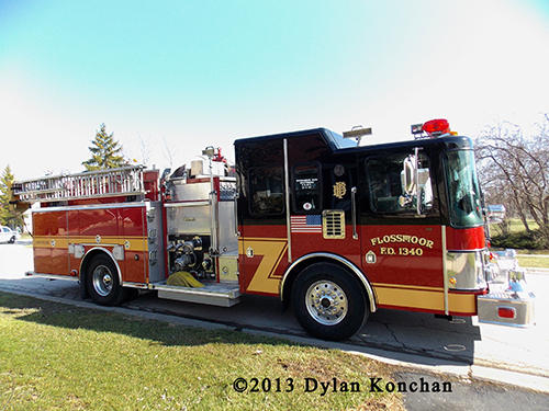 Flossmoor Fire Department engine