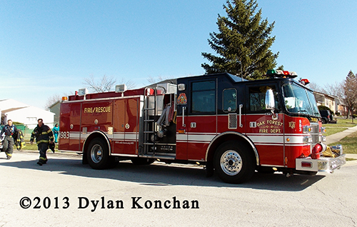 Oak FOrest Fire Department engine
