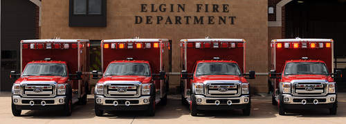 new ambulances for Elgin Fire Department