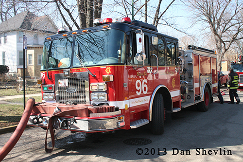 Chicago FD Engine 96 Luverne fire engine