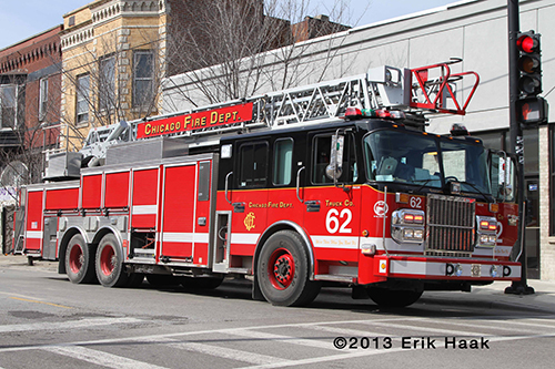 Chicago FD Crimson aerial