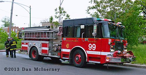 Spartan fire engine in Chicago
