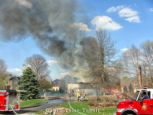 massive house fire in Crystal Lake