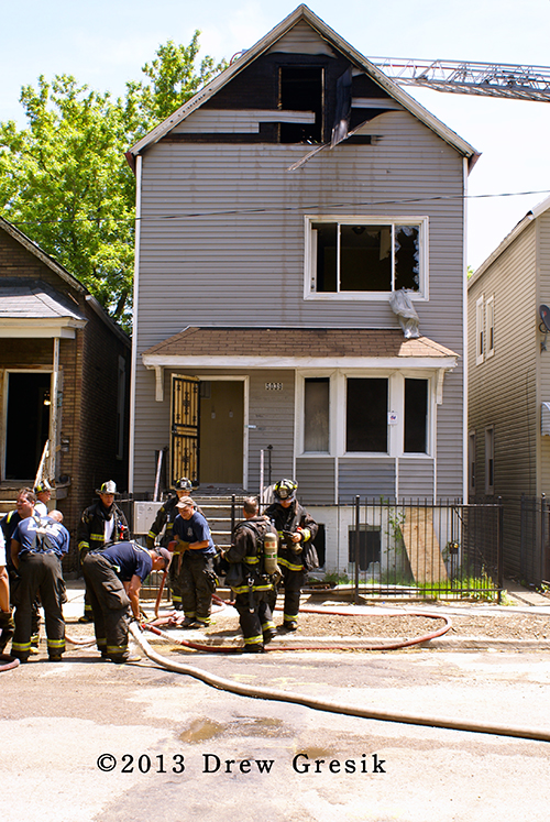 two-flat fire in Chicago