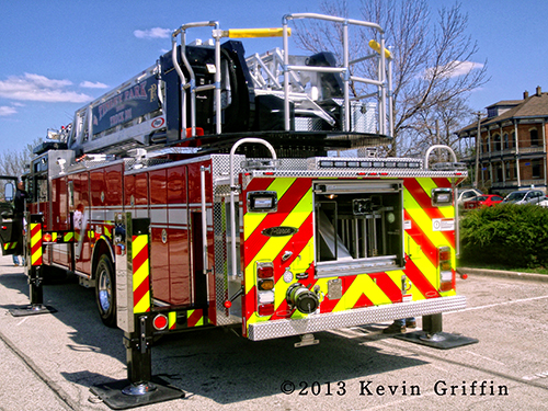 new ladder truck for Tinley Park FD