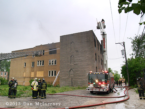 vacant building fire at 1433 S Kenneth in Chicago 5-23-13