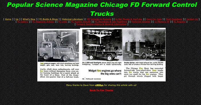 historic Chicago FD truck photos