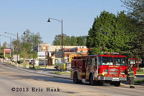Hometown FD fire engine working