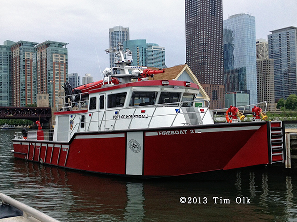 new fire boat or Houston