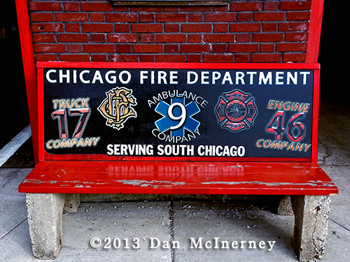 Chicago firehouse bench