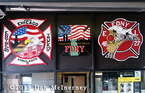 Chicago Fire Department company logos
