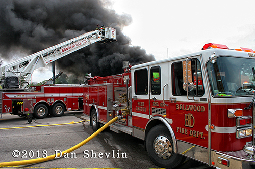5 alarm massive grocery store fire in Stone Park