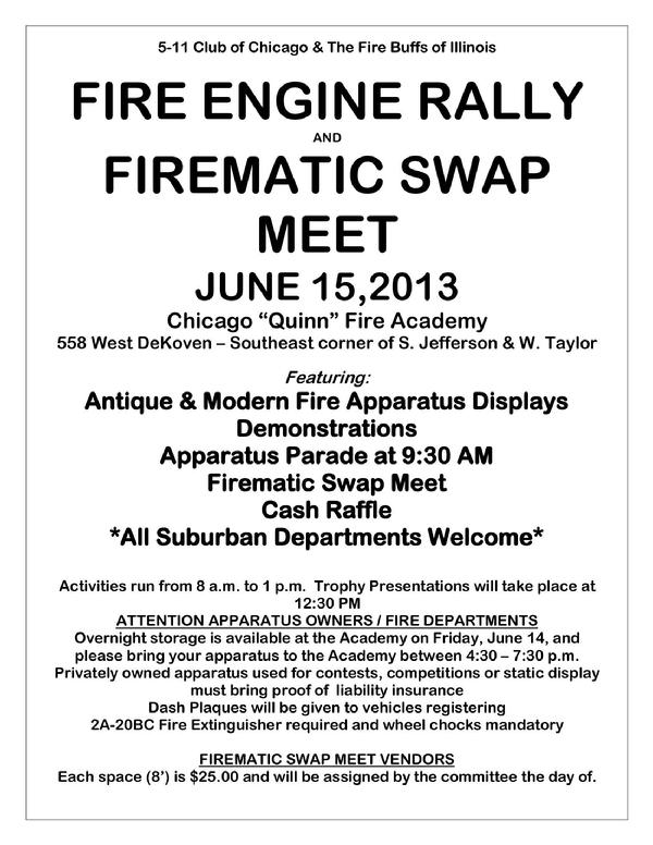 Chicago Fire Department Flea Market & Fire Engine Rally