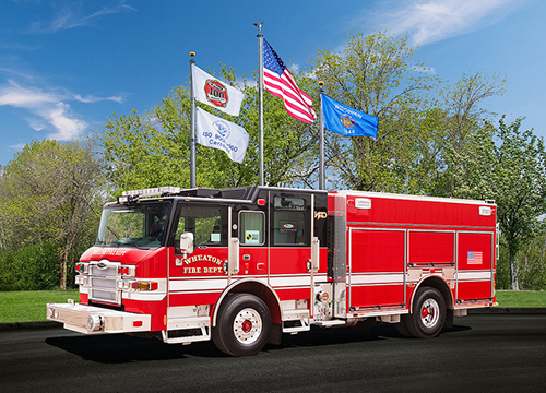Wheaton Fire Department new fire engine