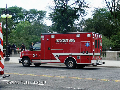 Evergreen Park FD ambulance