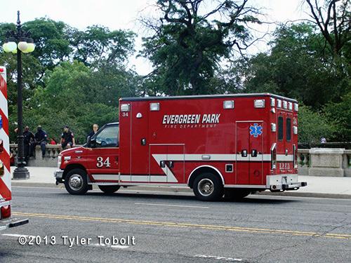 Evergreen Park FD ambulance