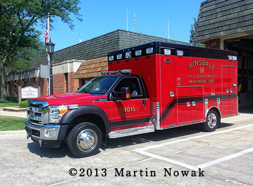 Hinsdale Fire Department ambulance