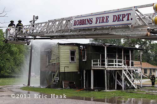 house fire in Robbins IL