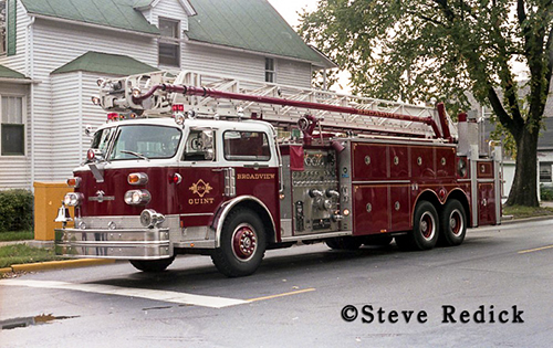 Broadview Fire Department history