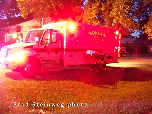 Mokena Fire District ambulance