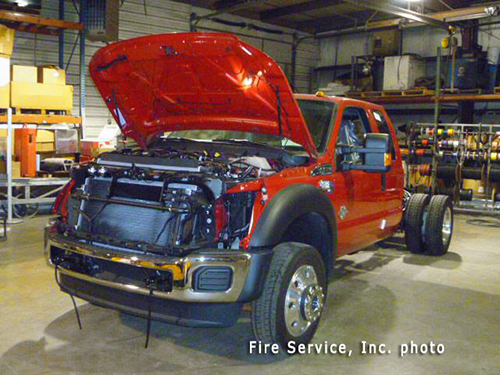 Ford F450 4x4 chassis for fire truck