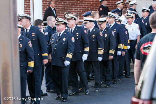 fire department walk-through for Anthony Rose